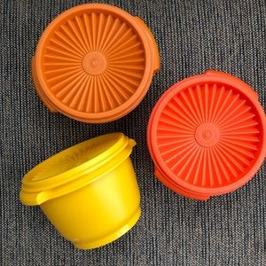3pc Tupperware Vintage Stackables Harvest Colors